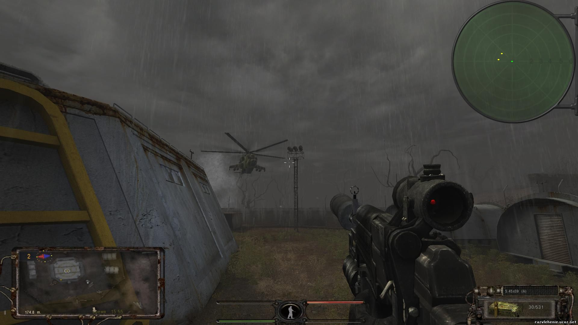 Скачать мод оружия сталкер тень чернобыля